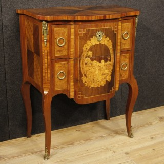 20th Century Small French Inlaid Dresser With Gilt Bronzes