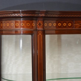 Late Victorian Inlaid Display Cabinet