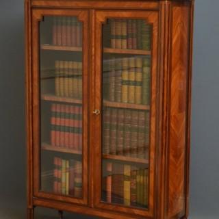 French Tulipwood Glazed Bookcase