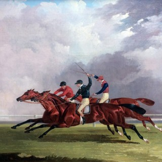 A racing scene - Nutwith, Cotherston & Prize Fighter, Doncaster, St. Leger, 1843