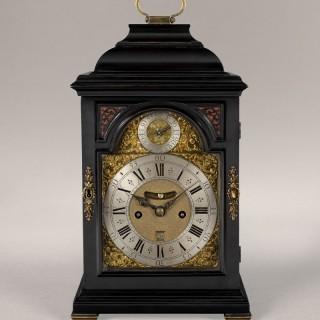Stephen HANET, circa 1730, ebonised table clock