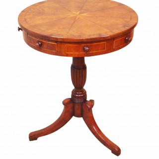 Antique Mahogany Maltese Type Drum Table