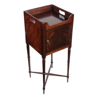 Regency Mahogany Bedside Cabinet