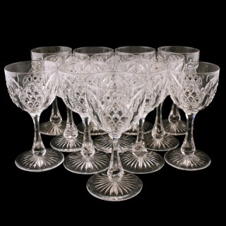 Set of 12 Edwardian Wine Glasses