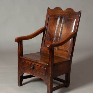 Welsh arm chair with drawer