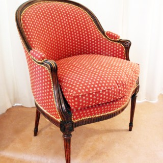 18th Century Upholstered Louis XVI Bergère Chair