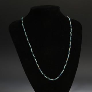 Egyptian Amarna Blue Bead Necklace