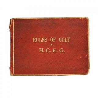 Rules of Golf, Honourable Company of Edinburgh Golfers