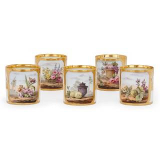 French Empire period antique Paris porcelain tea and coffee set