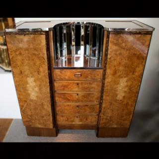 Art Deco Cocktail Games Cabinet