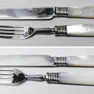 Silver and Mother of Pearl Cutlery for 6