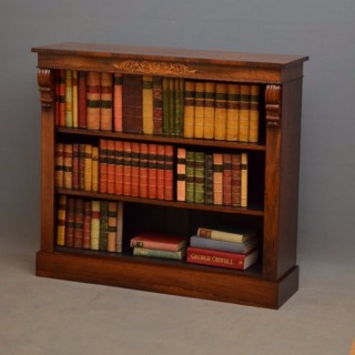 Victorian Rosewood Low Bookcase