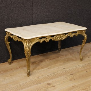 20th Century French Coffee Table In Gilt Metal