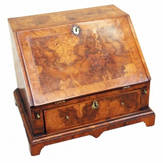 Antique 18th Century Walnut Table Top Bureau