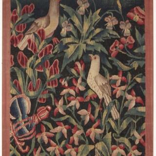 A mille fleurs tapestry fragment, Southern Netherlands, circa 1500-1540