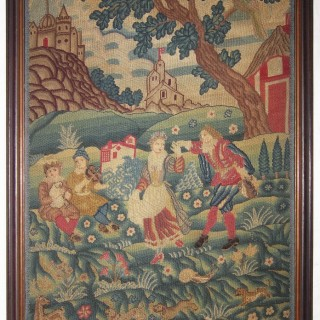 An English needlework picture, first quarter of the 18th century