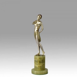 Art Deco Bronze Lady by Lorenzl