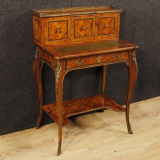20th Century French Inlaid Desk In Rosewood