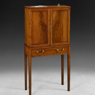 George III Mahogany collector's cabinet on stand