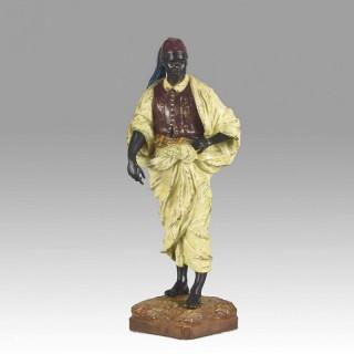 Vienna Bronze Standing Arab by Franz Bergman