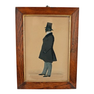 Silhouette in a Rosewood Frame