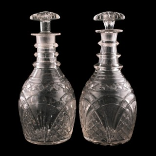 Pair of Georgian Glass Decanters