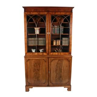 Georgian Mahogany Glazed Bookcase