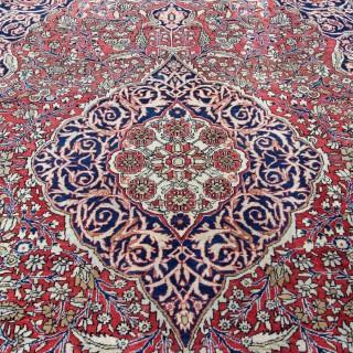 Antique Mohtasham Kashan rug, Persia