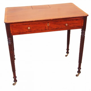 Antique Regency Period Mahogany Chamber Table