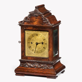 A late William IV rosewood bracket clock by French, Royal Exchange, London