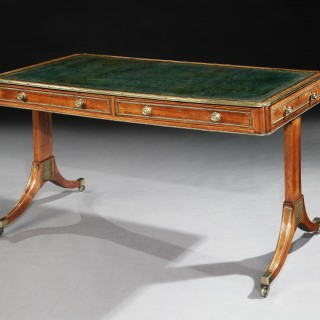 A George III Rosewood Library Writing Table
