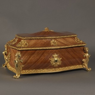 Louis XV Style Gilt-Bronze Mounted Table Box