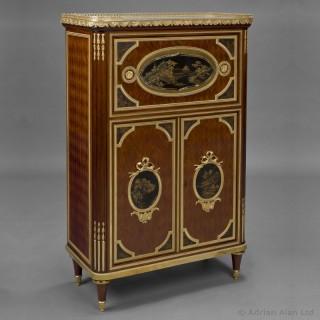 Louis XVI Style Lacquer Mounted Secretaire Cabinet