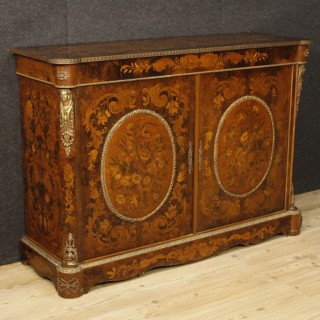 20th Century French Inlaid Sideboard With Bronze Decorations