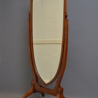 Edwardian Mahogany Cheval Mirror