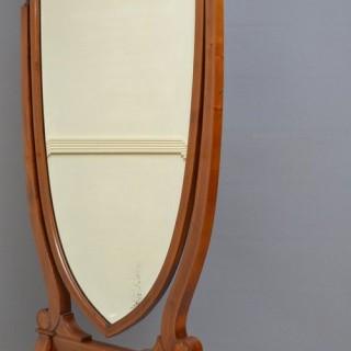 Edwardian Mahogany Cheval Mirror