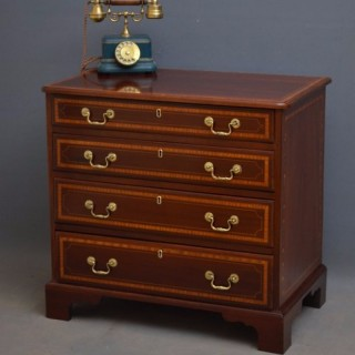 Georgian Mahogany and Inlaid Chest Of Drawers