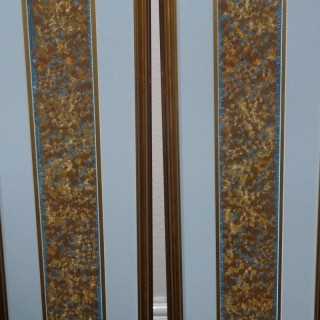 Chinese Pair of Silk and Gilt Sleeve Bands