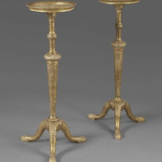 A Pair of George I Gilt Gesso Torcheres