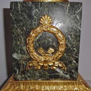 A single French ormolu mounted marble lamp