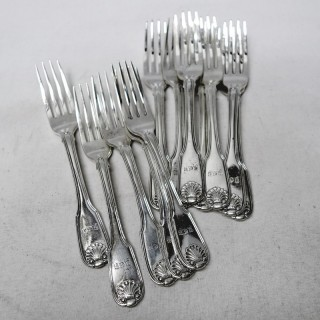 George III Silver Dessert Forks
