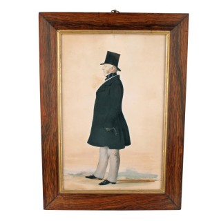 Silhouette Portrait in a Rosewood Frame