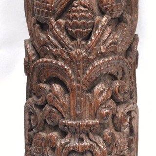 Carved oak Pillar with eagle