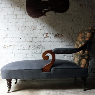 An Unusual & Attractive William IV Period Mahogany Chaise Longue c.1835