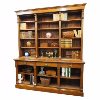 Late Victorian Oak Open Bookcase