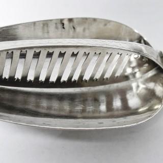 Antique Irish Silver Strainer Spoon