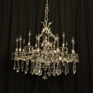 Italian Silvered 15 Light Antique Chandelier