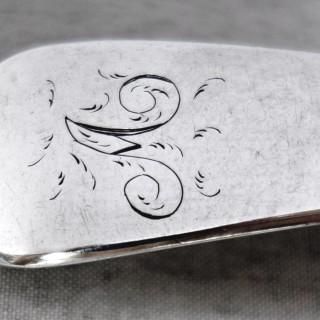 Antique Cork Silver Basting Spoon