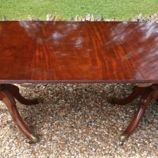 Early Nineteenth Century Regency Mahognay Antique Twin Pedestal Dining Table circa 1820