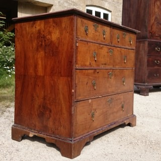Early 18th Century George I Period Walnut Antique Chest Of Drawers